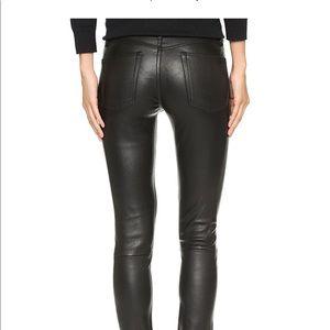 Dl1961 black leather jeans